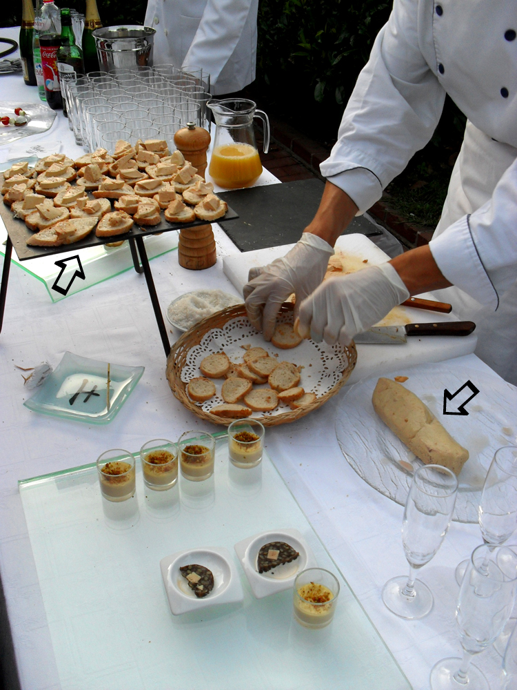 Foie Gras Entier carving station.  (img: David Kaley)