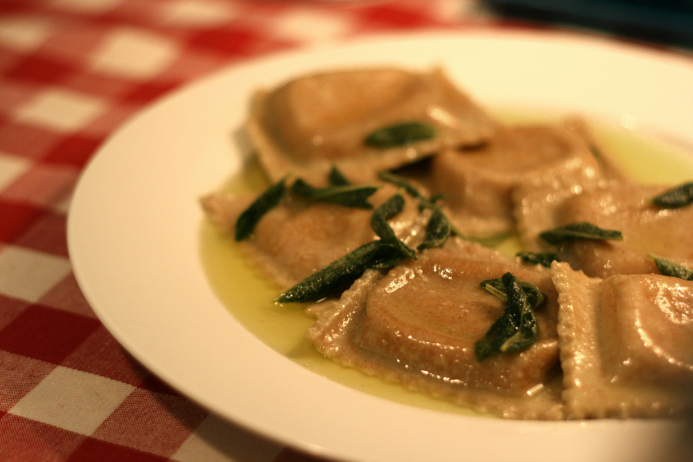 Butternut Squash Ravioli with Crispy Sage and Brown Butter