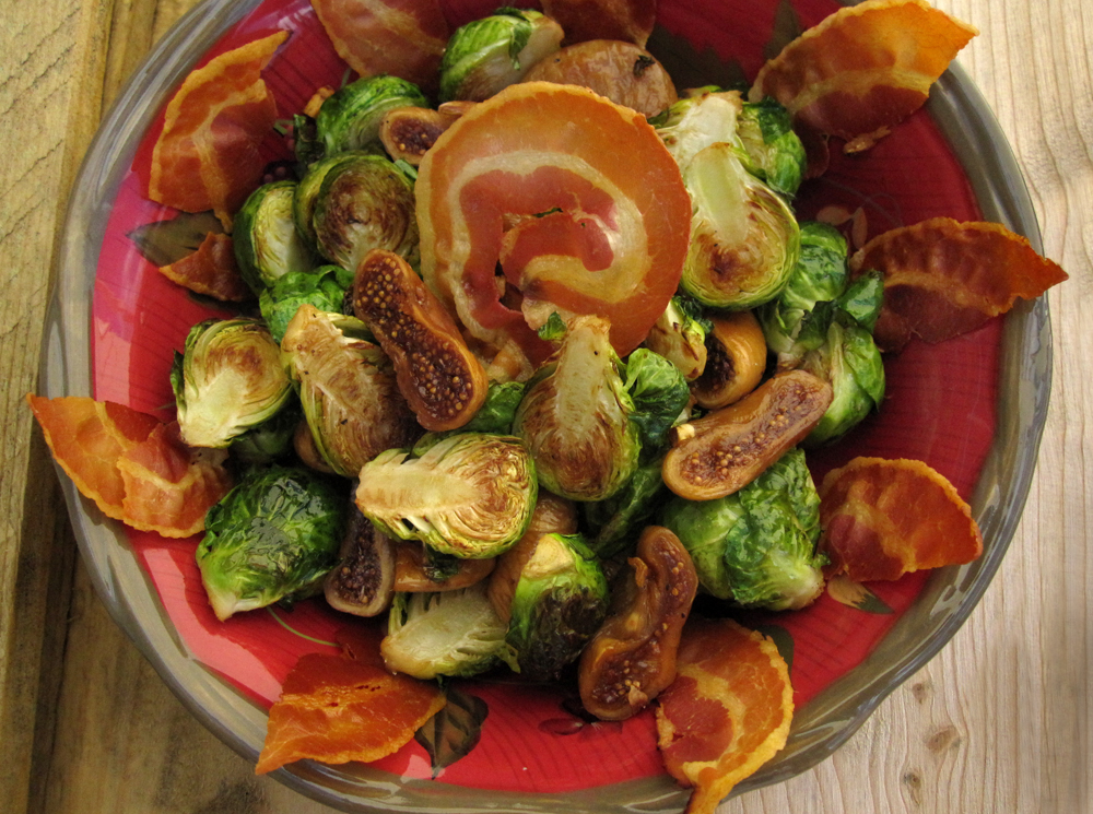 Roasted Brussels Sprouts with Pancetta and Calimyrna Figs (img: Sean Patrick Doyle)