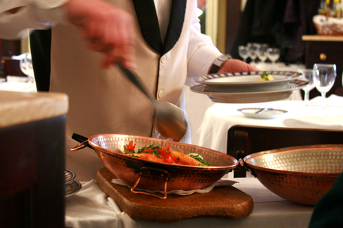 Steaming Cataplana is served table-side at Martinho da Arcada (img: Sean Patrick Doyle)