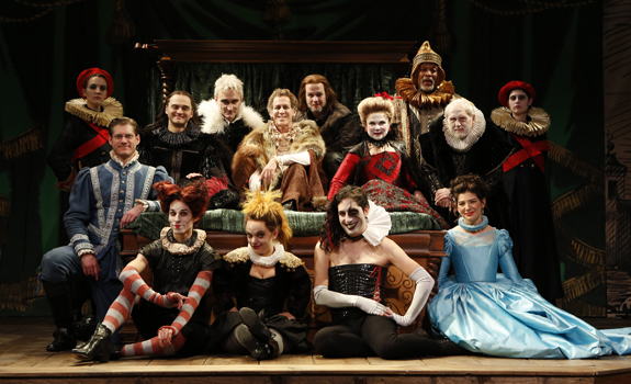 Above: Full Company of the Off-Broadway Revival of Volpone